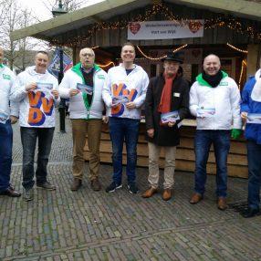 D66 samen met VVD en BurgerBelangennu, op de Kerstmarkt